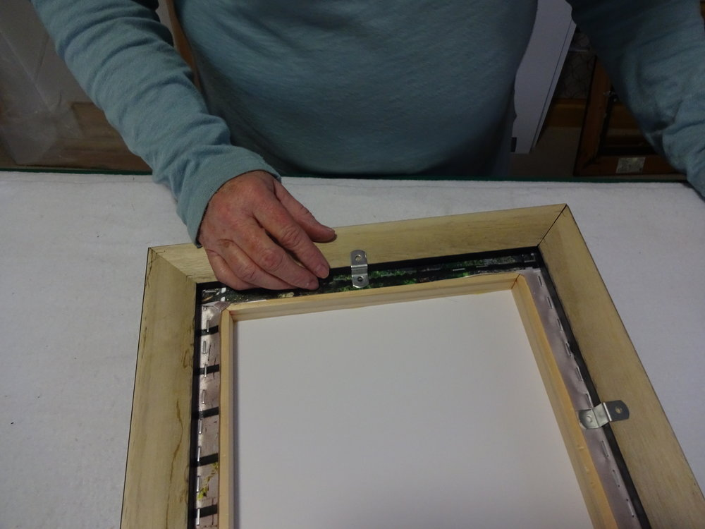 - Select the hardware to attach to the frame. Plan the locations for attachments.