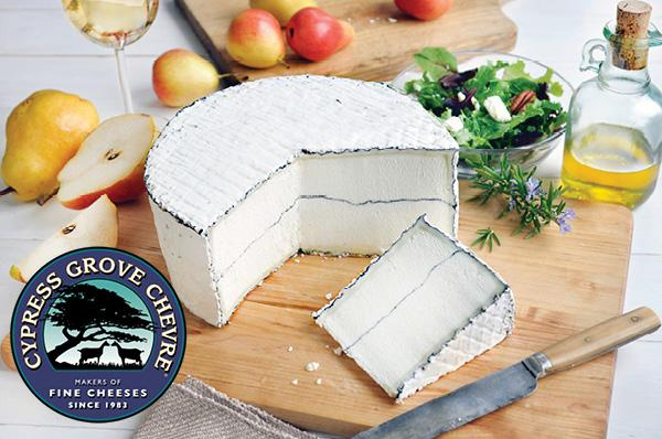 Award-winning Humboldt Fog Cheese! Like creamy butter in your mouth. Noms!