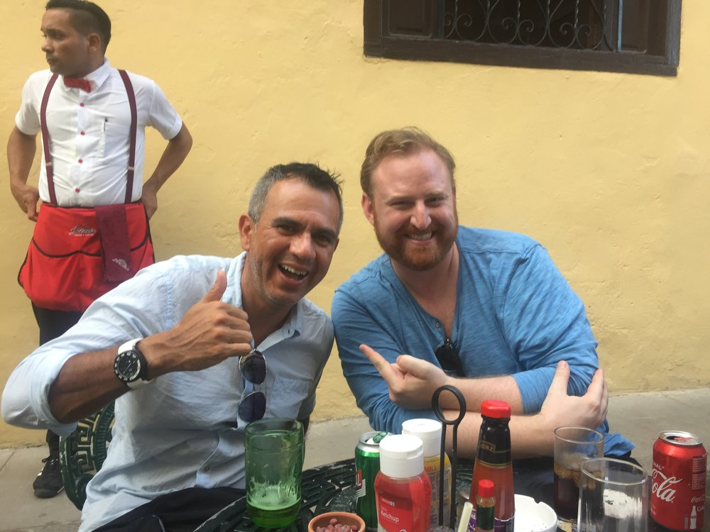 We met this fantastic man JuanCarlos at a random cafe in Habana Vieja. He's been to Silicon Valley and said the invitation was open for us to stay with him at his home in San Jose, Costa Rica! We're tracking you down and taking you up on that offer JC.