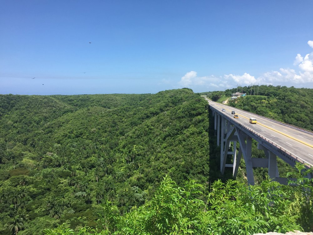 The breathtaking view from the highway between Havana and Varadero!