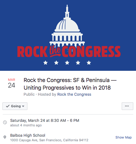 Organizing for Action San Francisco partnered with Rock the Congress to raise awareness among registered and prospective voters.