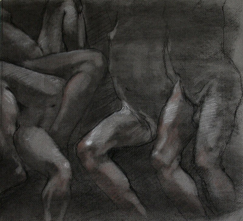 COMPRESSED CHARCOAL STUDY