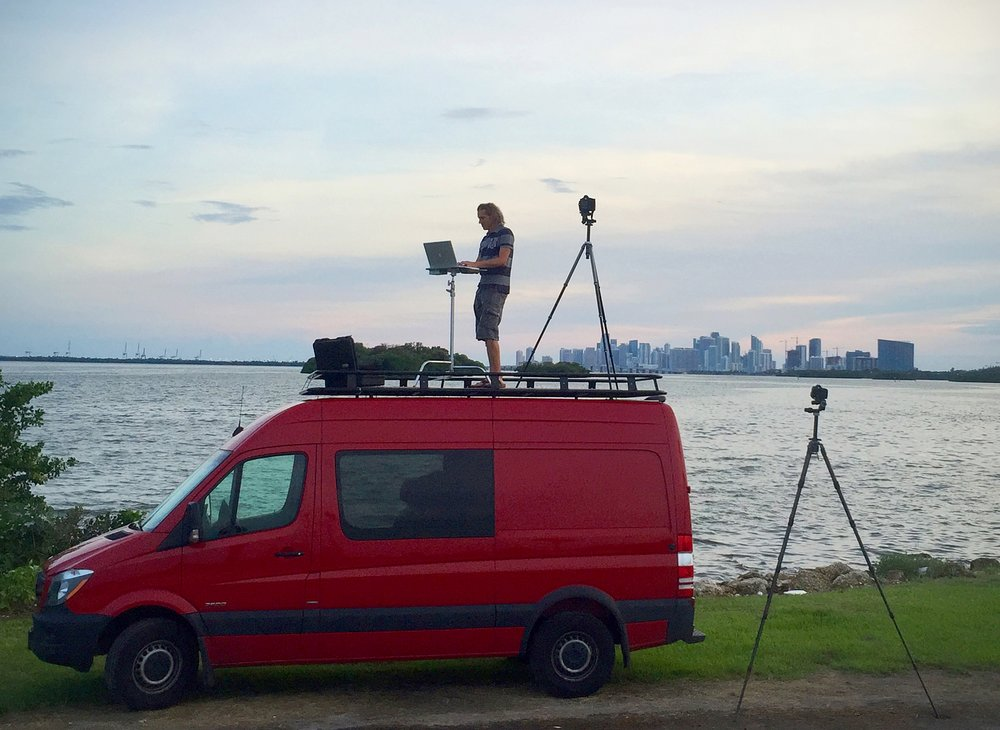 Here you can see the height advantage of the shooting platform provides for my clients.