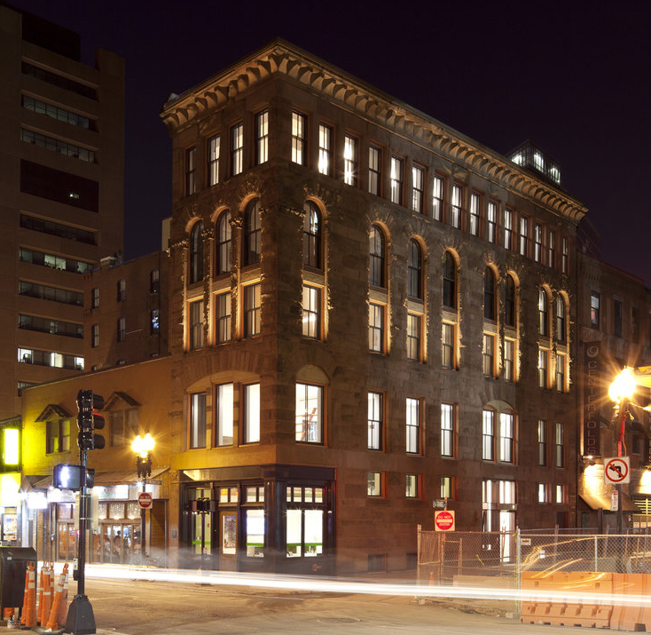As a project won in 2009, ThoughtCraft's renovation of the historic Hayden Building in Boston was a significant milestone in the firm's history. It enabled the young design firm to showcase their innovative approach to historic preservation. (Photo: John Horner )