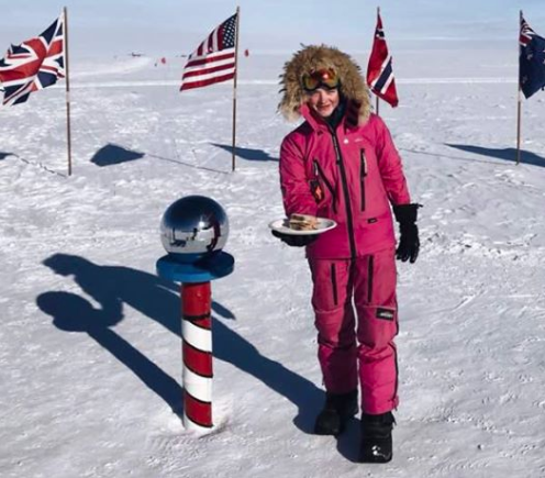Jade's trolls told her to 'make a sandwich'. So she did, at the South Pole