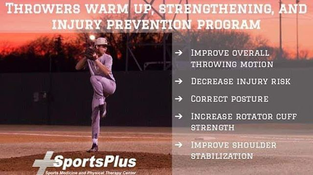 Antsy for summer? NEW TO SPORTSPLUS - Throwing warm up, shoulder strengthening, and injury prevention program for baseball and softball teams. Trained and experienced staff will be available to help demonstrate. Interested in starting this with your team? Call SportsPlus Grundy Center today! 319-825-6636 #injuryprevention #baseball #softball #throwingprogram #isitsummeryet