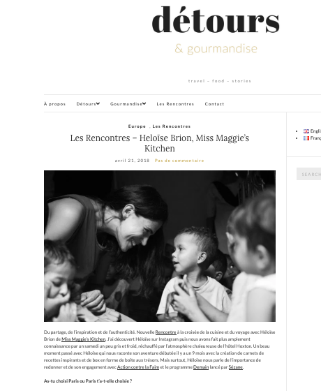 Détours & gourmandises - Avril 2018 -