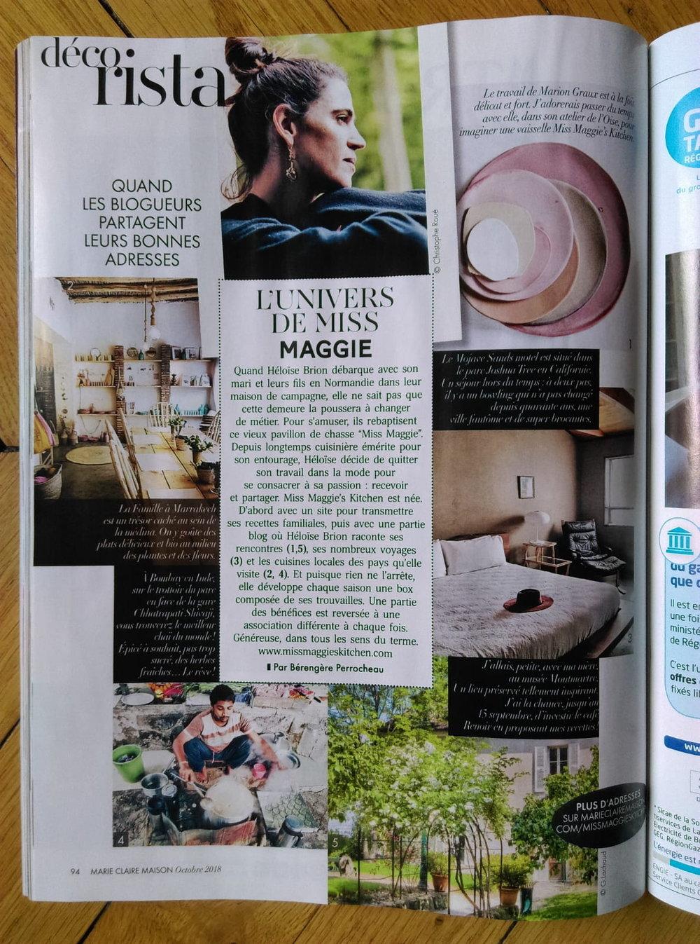 Marie Claire Maison Oct 2018 -