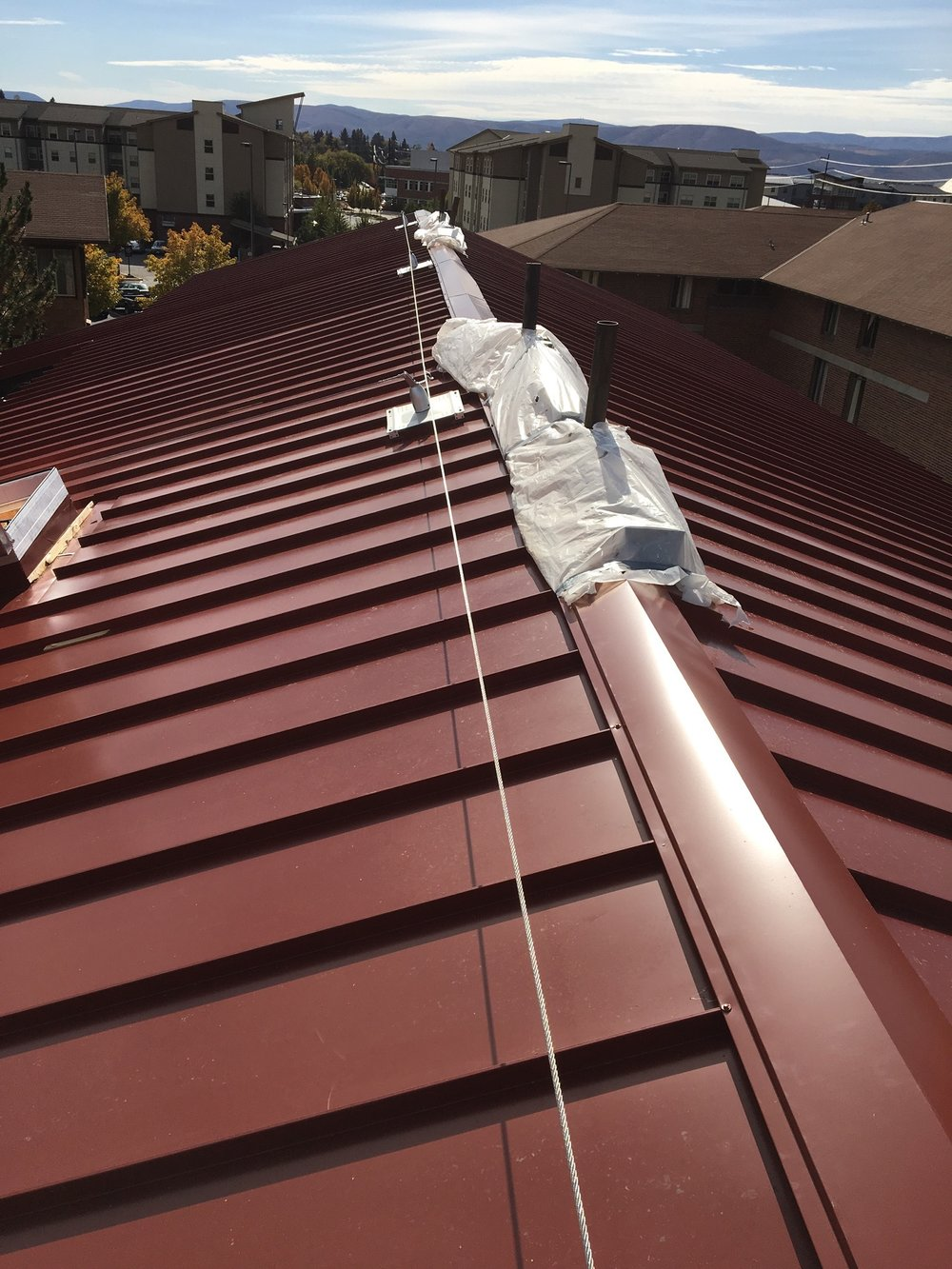 RoofSafe Lifeline On Standing Seam Roof