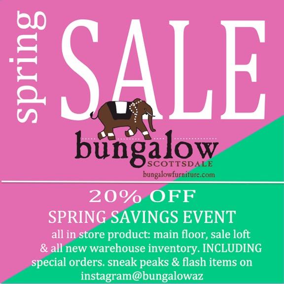bungalow az spring sale event
