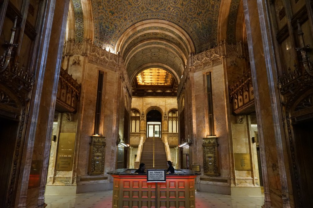 The Woolworth Building lobby...tour going down daily.