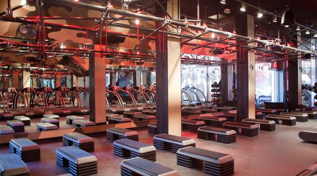 Barry's Bootcamp...before it's covered in sweat.