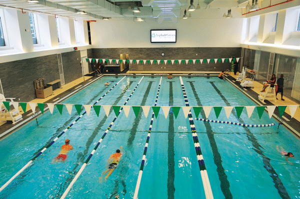 Asphalt Green offers swim lessons for kids of all ages, too!