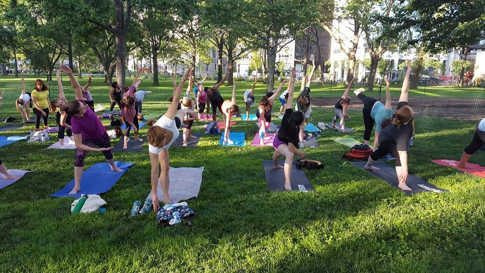 Twice a week Tejal Yoga teaches yoga classes on the newly reopened Woodland lawn (Wednesdays 6:30-7:30 and Sundays 11:30-12:30)
