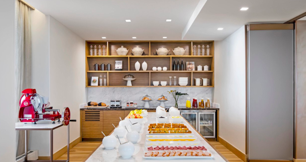 Communal kitchen buffet