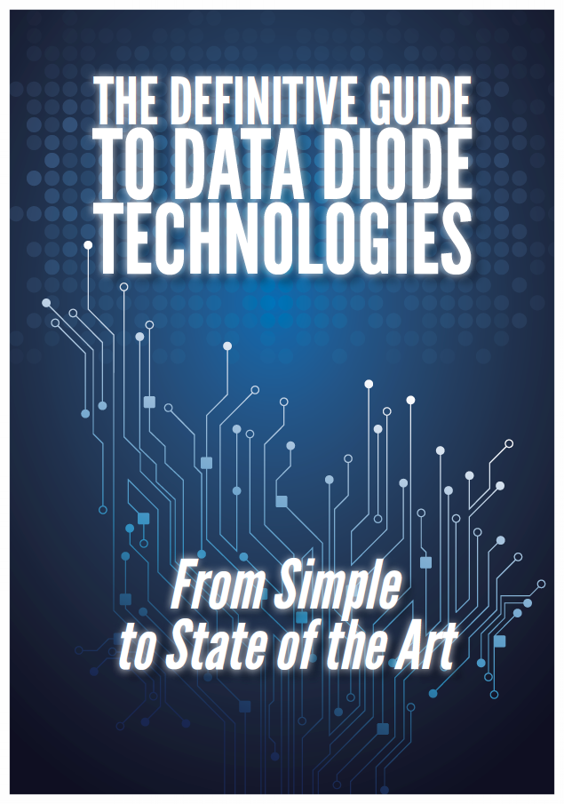 WHAT IS A DATA DIODE? - A piece of hardware that physically enforces a one-way flow of data. As one-way data transfer systems, data diodes are used as cybersecurity tools to isolate and protect networks from external cyber threats and prevent penetration from any external sources.