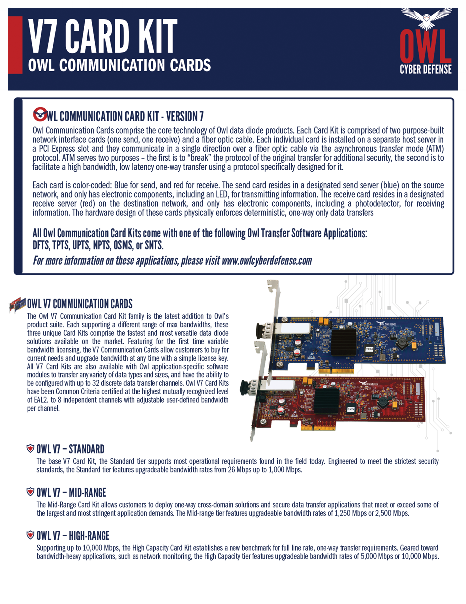 Owl Communication V7 Card Kits