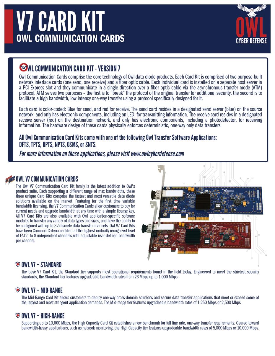 Owl V7 Communication Card Kits