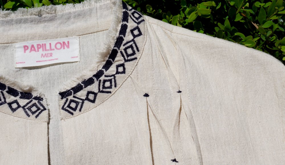 Aix Jacket Natural/ Navy emb. Product Code: 10FNENA