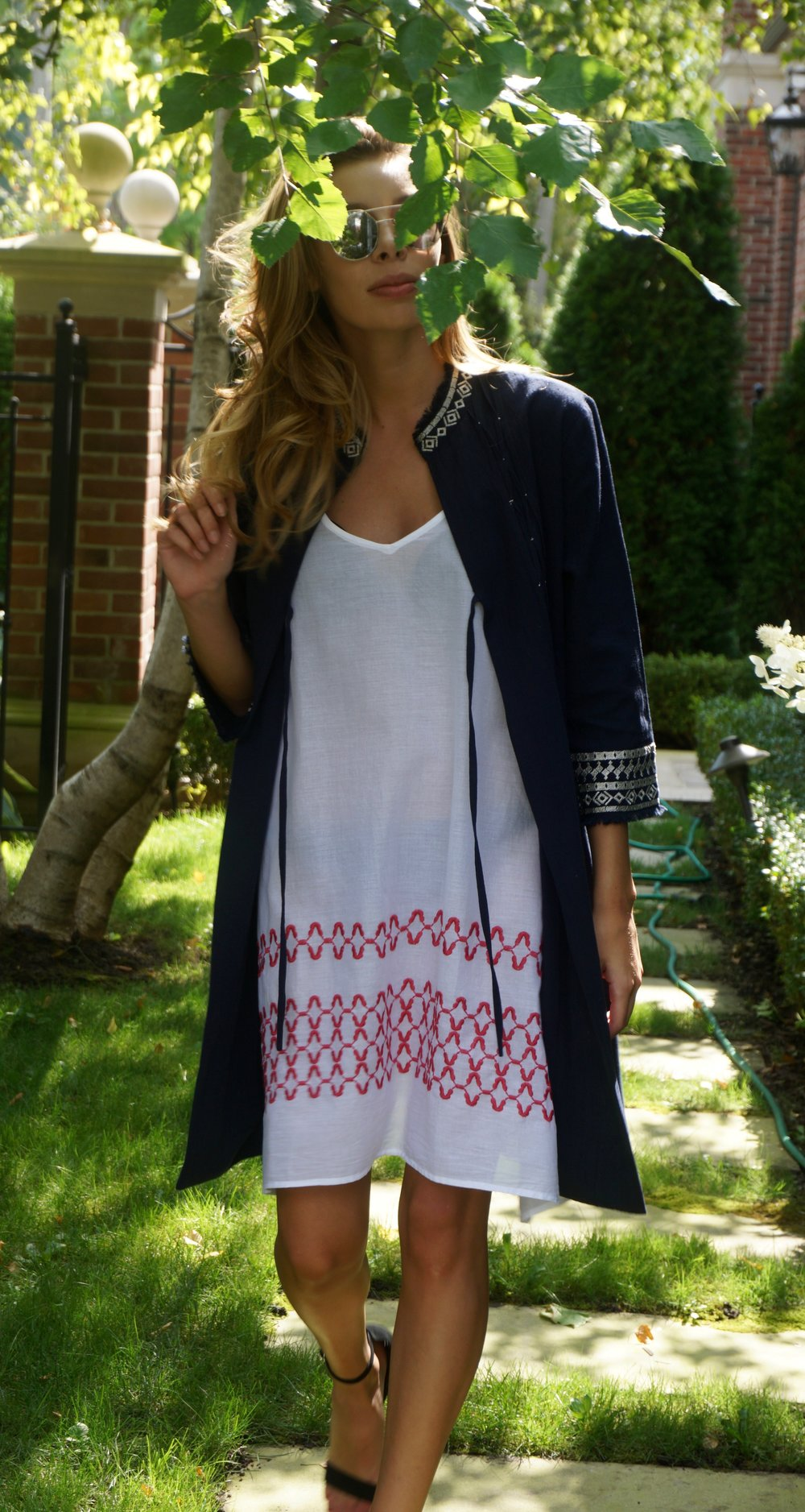 Aix Jacket Navy/Pewter & Marseille Dress White/Red  Product Code: 10FNAEP &2BC92WHERE