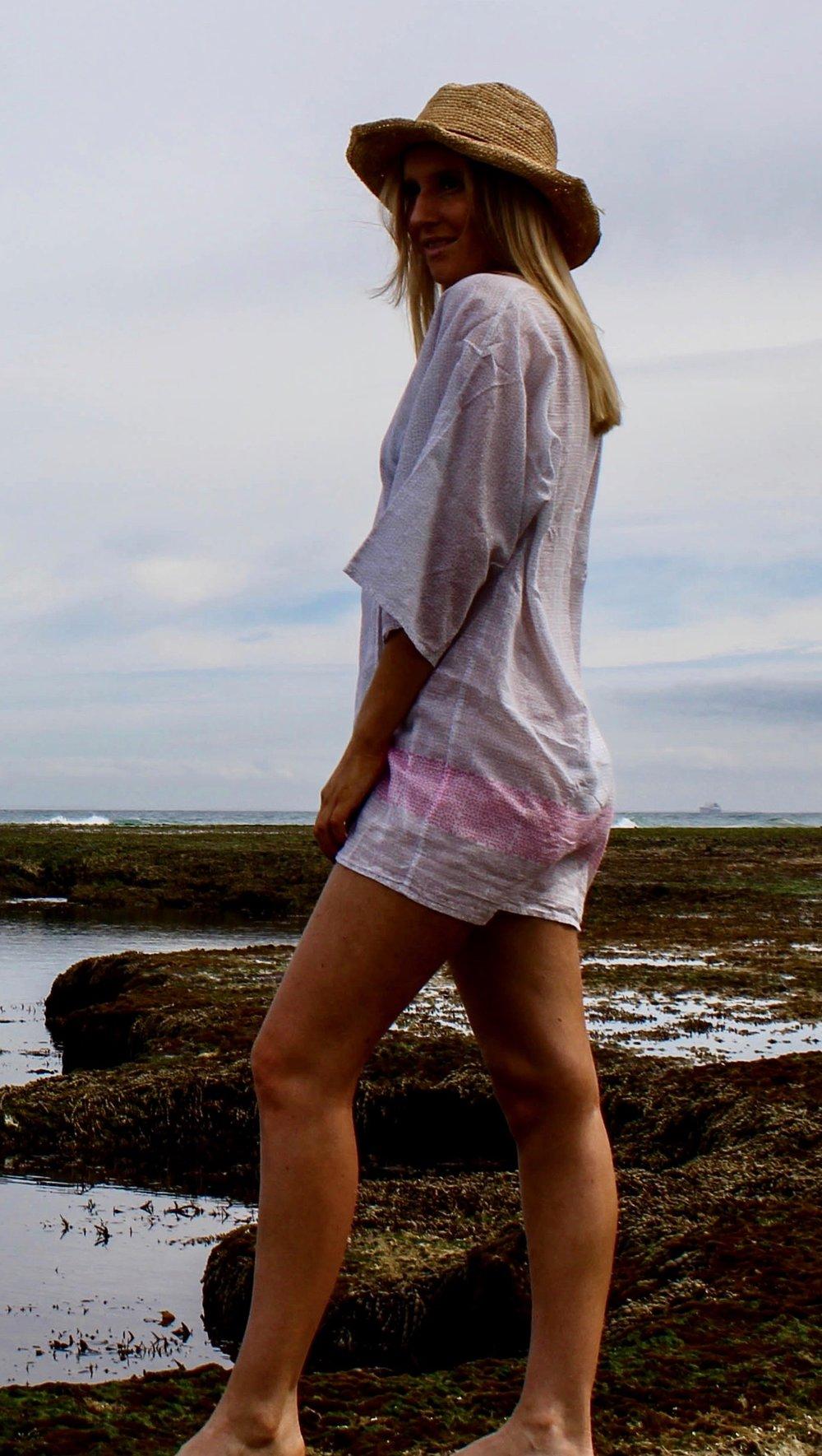 Vichy Kimono Grey/Pink Product Code: 9AGISG/PEP