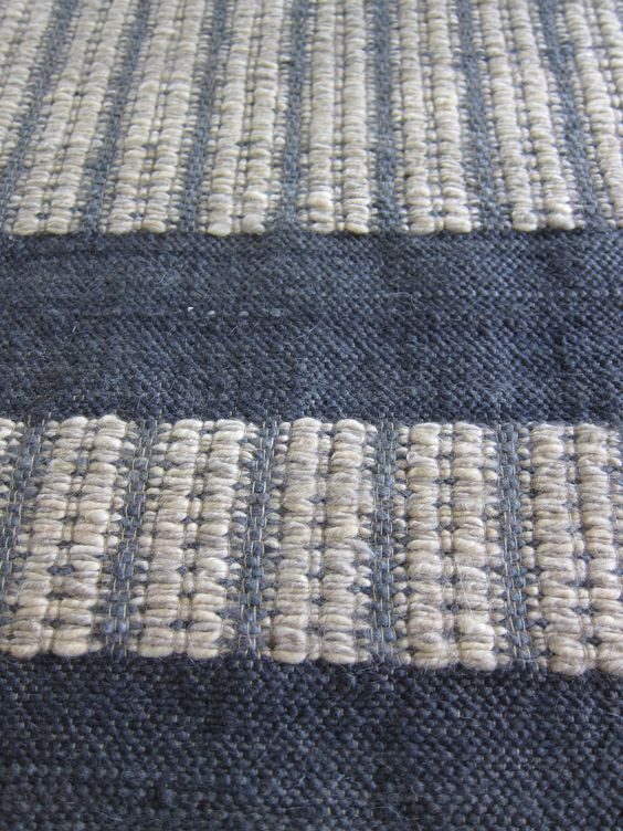 Coral stephens blue and white ribbed mohair rug.jpg