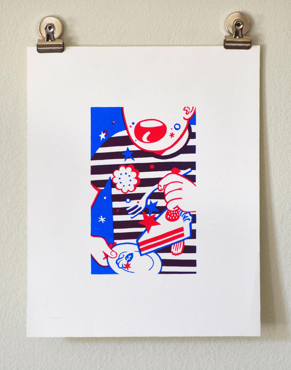 silk screen print 2 layers