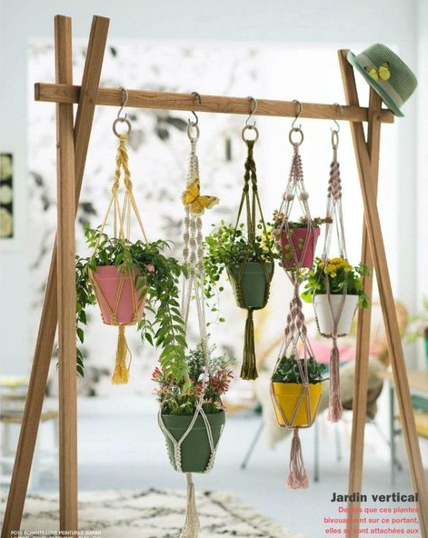 Create vertical gardens with free standing rails