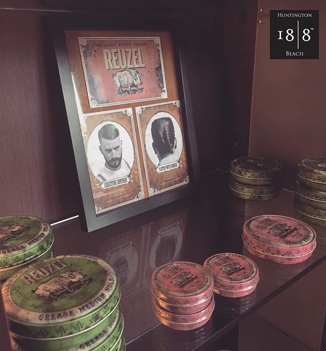 Get your REUZEL fix here at 18|8 HB!💈🐽 #hollandsfinestpomade