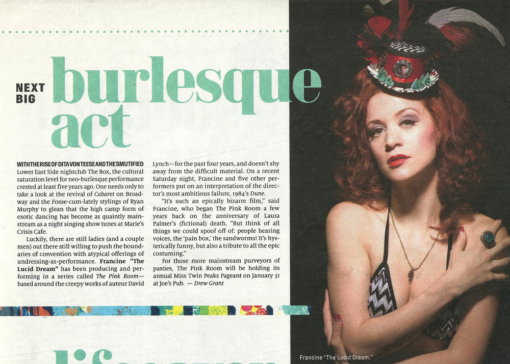 "- The ""Next Big Burlesque Act"" -  New York Observer"