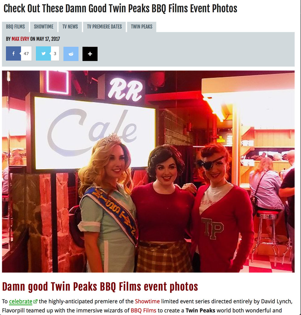 More photos from Showtime's A Tribute to Twin Peaks featuring The Pink Room Burlesque