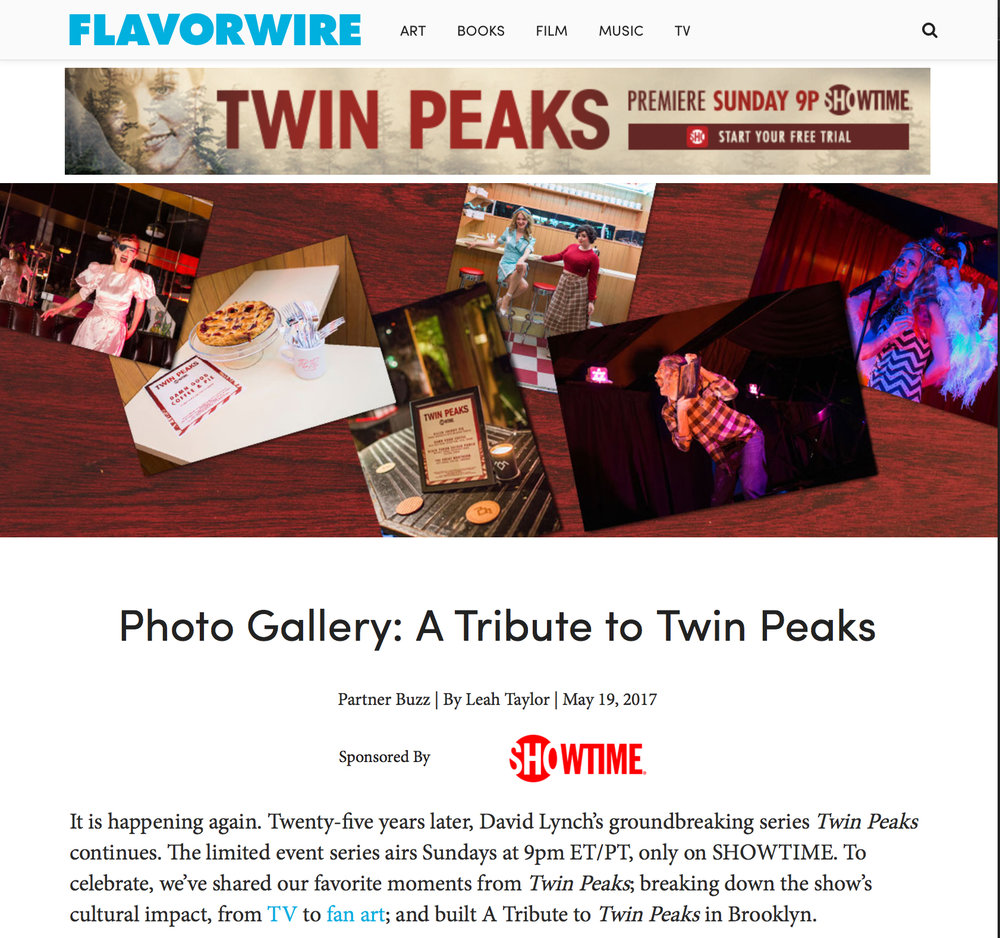 Photos by Christopher Gregory for Flavorpill & BBQ Films: Showtime's A Tribute to Twin Peaks featuring The Pink Room Burlesque