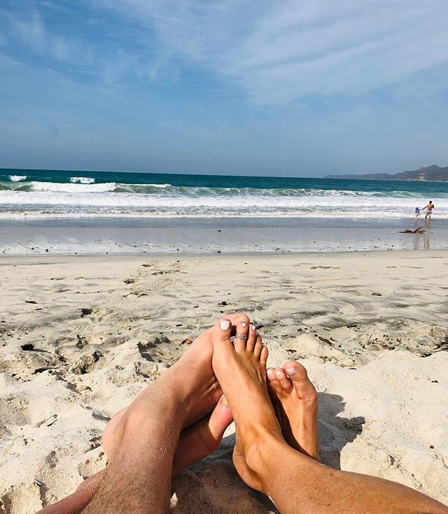 #toesinthesand #puntamita #relax #blessed #grateful #mexico