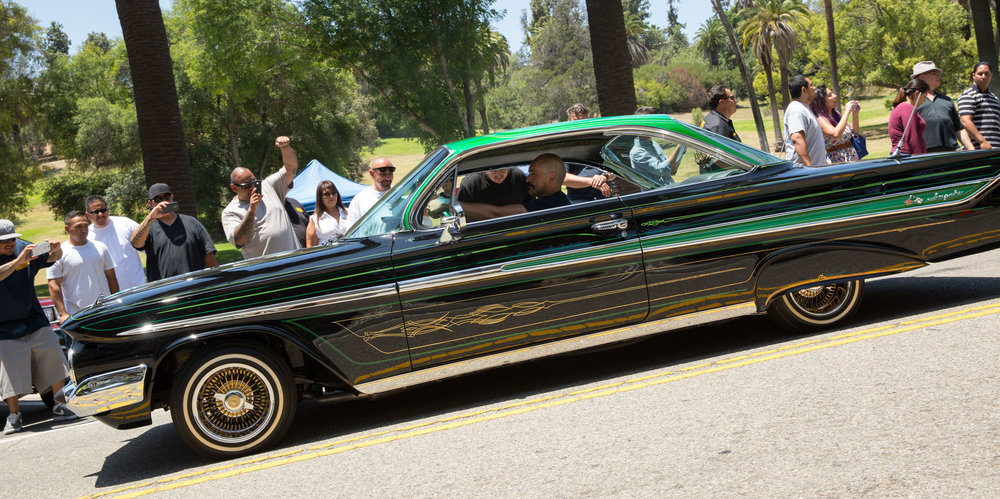 Green Poison, the old-school cruiser built by Demián Bichir's character in  Lowriders .
