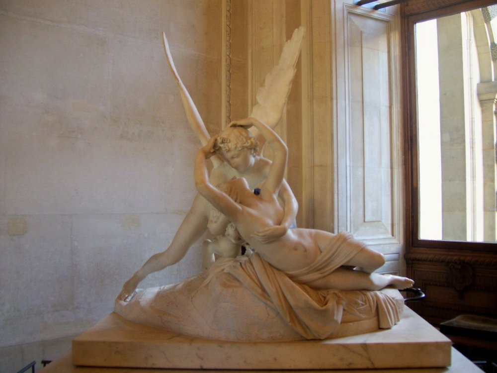 """Cupid and Psyche"" by Bernini. If you moved to the left, you had a clear shot of ""Nike."""