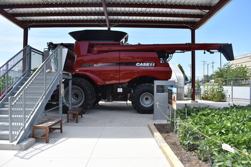 Case IH Combine, including the stairs to the cab where visitors would sit and pretend to drive.