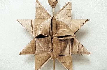 Birch Bark Star Ornaments  - Instructed by John Zasada