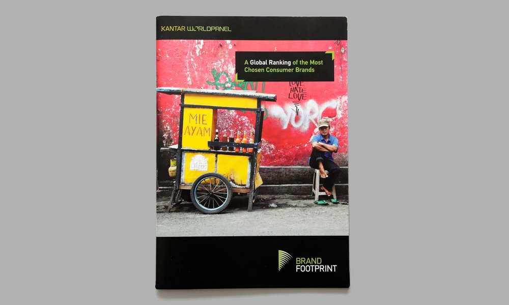 Kantar Worldpanel / Brandfootprint Report  - For two years I worked alongside an editor as the lead copywriter on this global report. It is the most comprehensive study of the most chosen FMCG/CPG brands, this report explores how shopping behaviours change under the lenses of geography and socioeconomics.