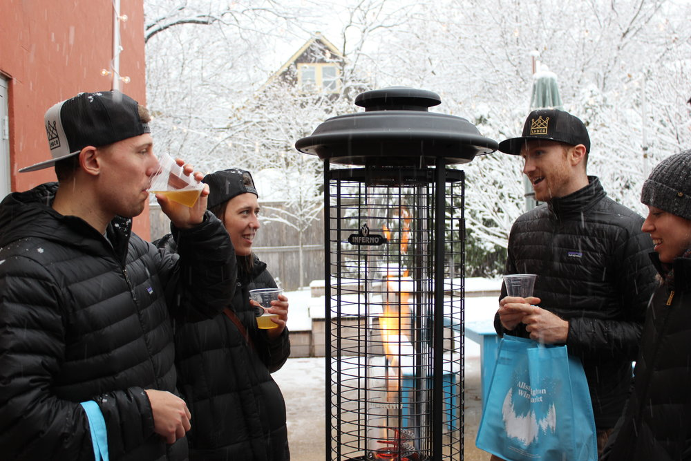 The Allston-Brighton Winter Market needed a beer garden, of course