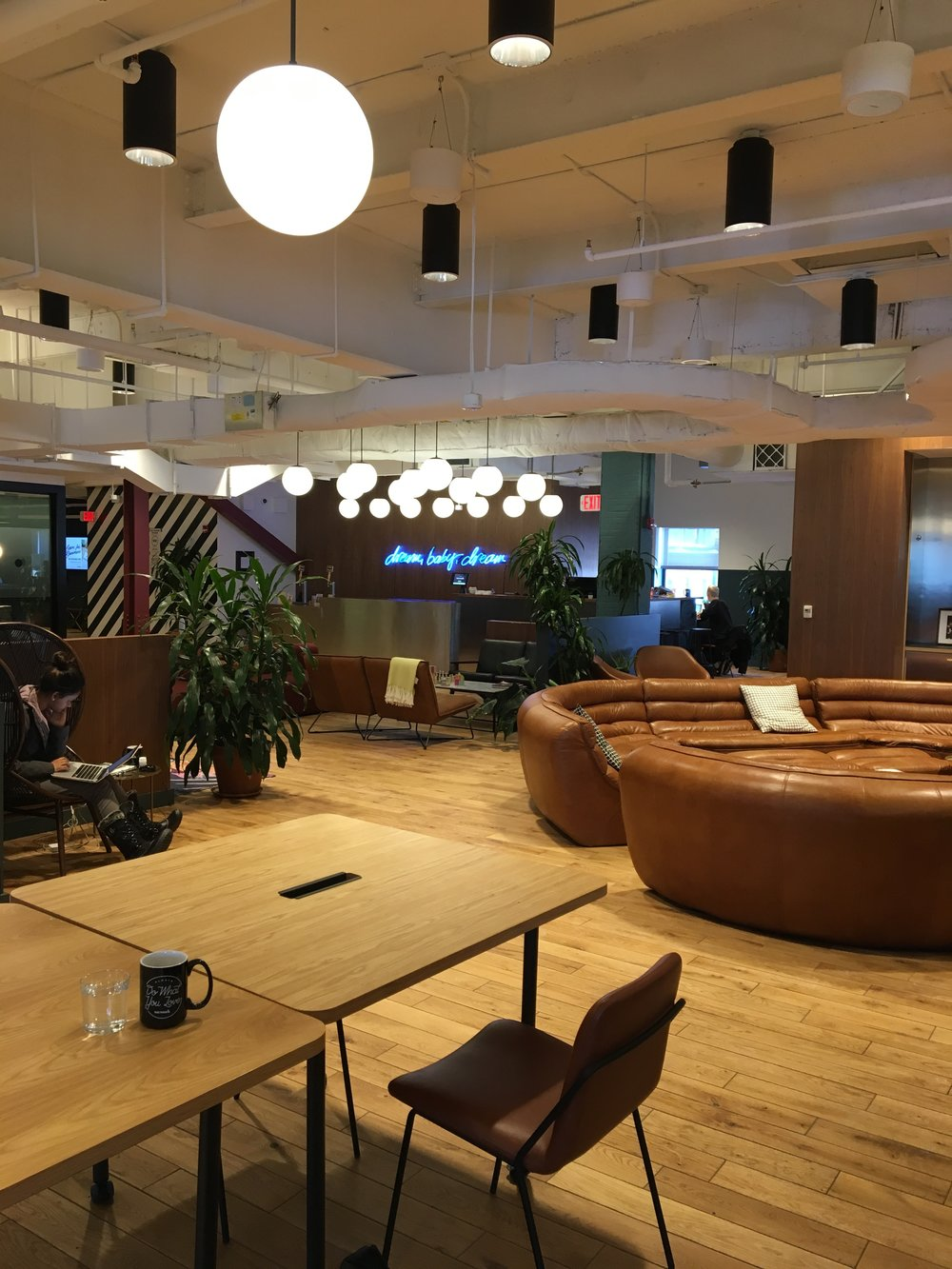 Out of the dining room and into WeWork...