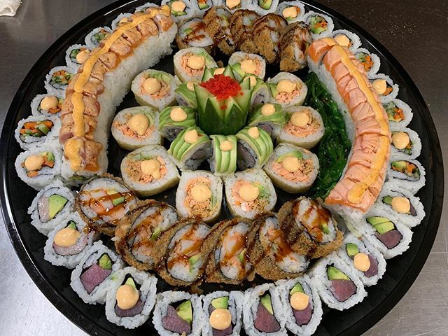 Host your next party in style order a sushi platter today at Lenny's Pizza 305-397-8395