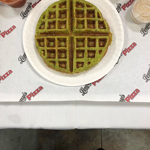 Look what's new at Lennys Pizza. Falafel Waffle with pizza sauce, chumus, tehina, stop by and try one. Lenny's Pizza