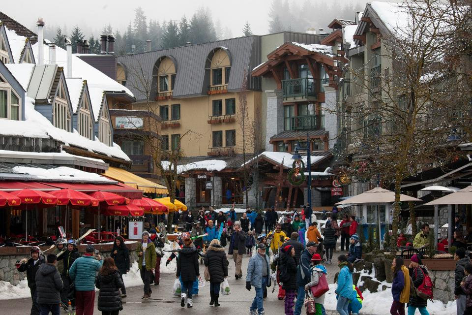 Whistler Village has a gravity unto itself.  Credit: Shutterstock
