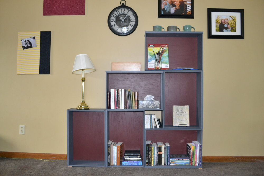 Refurbished bookshelf in my living room