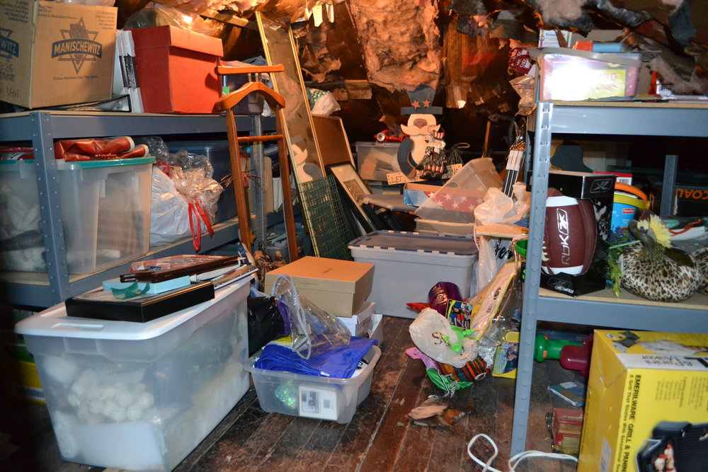 Attic space overflowing