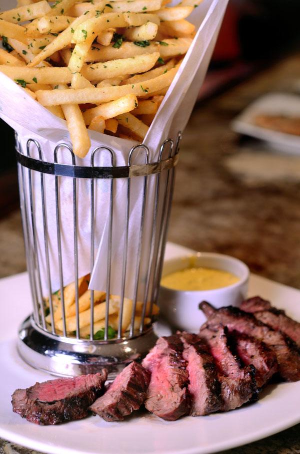 U.S.D.A. prime steak frites