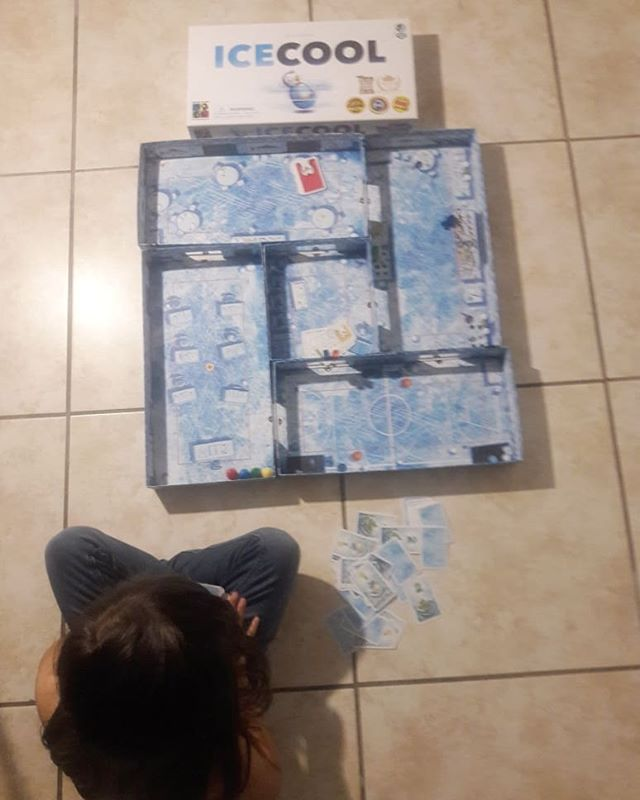 "It's GAME NIGHT and we're playing ICE COOL by @braingames_int  I'm teaching my girls about life's ""trick shots"" while they show me theirs- and fling cute penguins across the ice. Everyone is having fun, no fighting, no whining so I'm the real winner here 😉  Check the link in my bio for a chance to win a trip to Antarctica! #ICECOOLAntarctica #ICECOOL #ICECOOL2 #AMBcollab #HERICECOOL #IceCoolBrilliant #ad"