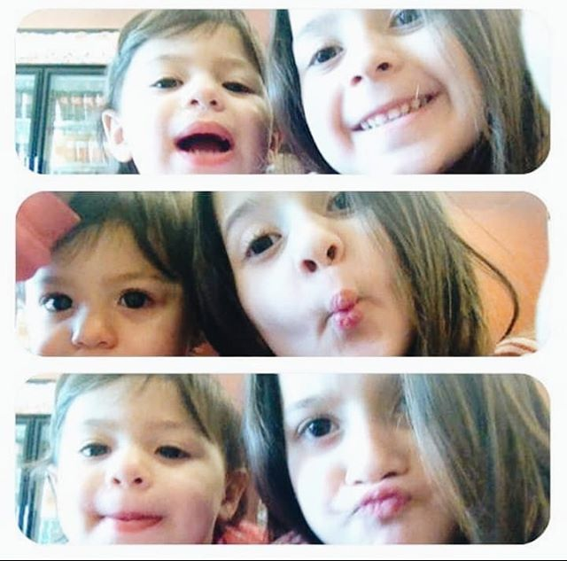 "#fbf Woke up to this #facebook memory this morning and it brightened my morning ☀️ . We went to @dunkindonuts this morning. It was 3 years ago, about two weeks before we moved to Florida. I was pregnant with Lucy and took my girls out for donuts. They grabbed my phone and snapped up dozens of selfies.  Three years layers, they are still taking selfies together and we still enjoy our frequent #dunkindonuts visits. ""The more things change, the more they stay the same."" #notwithoutmycoffee"