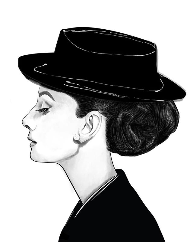 Channelling Audrey Hepburn with this latest illustration @jennymjiang 👌🏻
