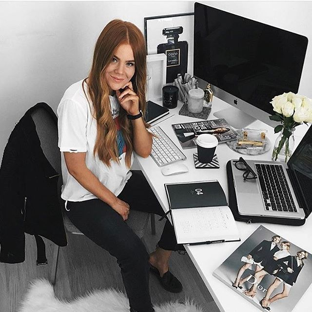 Because Kiara is freaking awesome. Here's a shot from one of our favourite workspaces featuring our 'Coco Noir' print 🌹 Happy hump day lovers x @lioninthewild